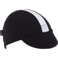 Walz Moisture Wicking 3-Panel Cycling Cap - Black/White Racing Stripe