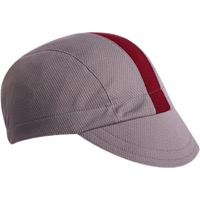 Walz Moisture Wicking 3-Panel Cycling Cap - Gray/Burgundy Racing Stripe