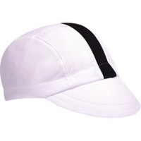 Walz Moisture Wicking 3-Panel Cycling Cap - White/Black Racing Stripe