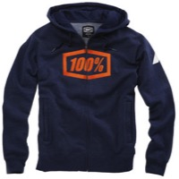 100% Syndicate Zip Hoody - Navy Heather