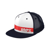100% Bonneville Trucker Hat - Navy/White