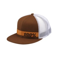 100% Bonneville Trucker Hat - Chocolate/White