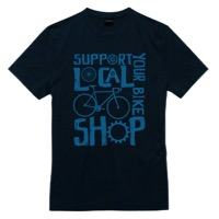 Mechanical Threads Shop Local Merino T-Shirt - Blue