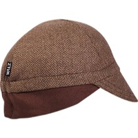 Walz Wool Ear Flap Cycling Cap - Brown Herringbone