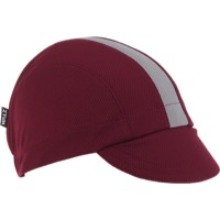Walz Moisture Wicking 3-panel Cycling Cap - Burgundy/Gray Racing Stripe