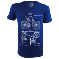Clockwork Gears Bike Patent T-Shirt - Royal
