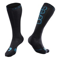 7iDP Shin Socks - Black/Cyan