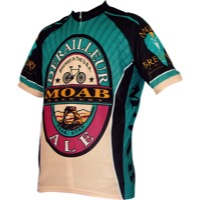 World Jerseys Moab Brewery Derailleur Ale Jersey - Blue/Black