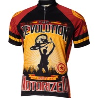 World Jerseys Revolution Motorized Cycling Jersey - Brown
