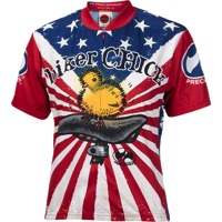World Jerseys Women's U.S. Biker Chick Jersey - Red/White/Blue
