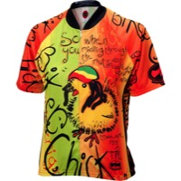 World Jerseys Women's Biker Chick Rasta Jersey - Rasta