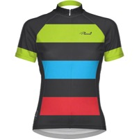 Primal Wear Women's Bold Cycling Jersey - Black/Red/Green/Blue