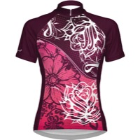 Primal Wear Women's Florence Cycling Jersey - Maroon/White
