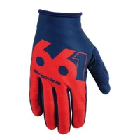 SixSixOne Comp Slice Gloves - Navy/Red