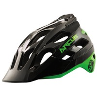 THE Industries Arcus Enduro Helmet - Black/Green