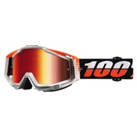 100% RaceCraft Goggles - Ultrasonic/Mirror Red Lens