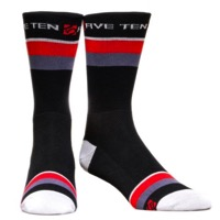Five Ten Jagged Socks - Black/Red/Grey