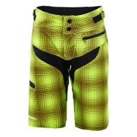 Troy Lee Women's Skyline Shorts 2016 - Plaid Lime Green