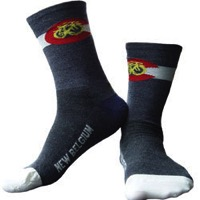 New Belgium Brewing Company Fat Tire Socks - Blue/Grey