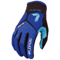 7iDP Tactic Gloves - Navy/Electric Blue