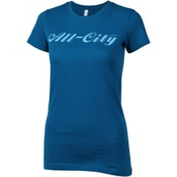 All-City Script Logo Women's T-Shirt - Blue