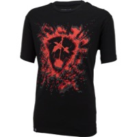 Subrosa Bleached T-Shirt - Black/Red
