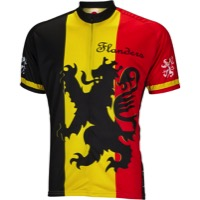 World Jerseys Flanders Men's Jersey - Black/Yellow/Red
