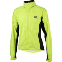 O2 Primary Rain Jacket with Hood - Hi-Vis Yellow
