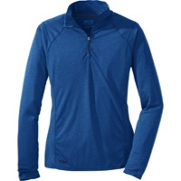 Outdoor Research Women's Essence L/S Zip Top - Cornflower