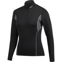 Louis Garneau Women's 2002 Zip Neck Long Sleeve To - Black