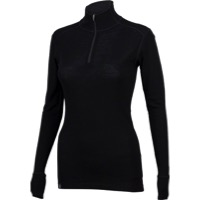 Ibex Woolies 1 Women's Zip Neck Long Sleeve Base L - Black