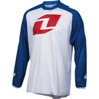 One Industries Atom Vented Long Sleeve Jersey - White/Blue