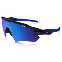 Oakley Radar EV Path Team Colors Sunglasses - Polished Black/Sapphire Iridium