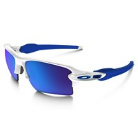 Oakley Flak 2.0 XL Sunglasses - Polished White/Sapphire Iridium