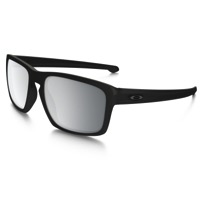 Oakley Sliver Machinist Sunglasses - Matte Black/Chrome Iridium Lens