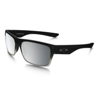 Oakley TwoFace Machinist Sunglasses - Matte Black/Chrome Iridium Lens