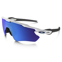 Oakley Radar EV Path Sunglasses - Polished White/Sapphire Iridium Lens