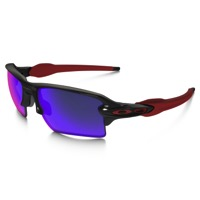 Oakley Flak 2.0 XL Team Colors Sunglasses - Polished Black/Positive Red Iridium Lens
