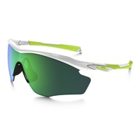 Oakley M2 Frame XL Sunglasses - Polished White/Jade Iridium Lens