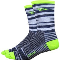 "DeFeet Aireator 5"" D-Logo Socks - Urban/Yellow"