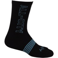 All-City Electric Boogaloo Socks - Black/Blue