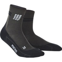 CEP Dynamic+ Merino Cycle Short Men's Socks - Anthracite/Black