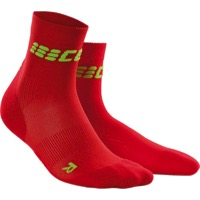 CEP Dynamic+ Cycle Ultralight Short Women's Socks - Red/Green