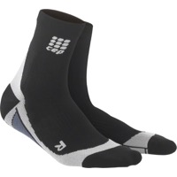 CEP Dynamic+ Cycle Short Women's Socks - Black/Gray