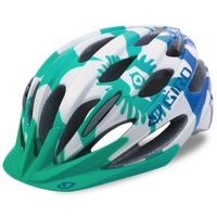 Giro Raze Youth Helmet 2017 - Turquoise/Blue Teal Flowers