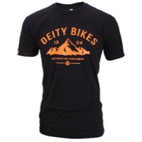 Deity Heritage T-Shirt - Black/Orange
