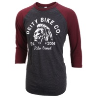 Deity Riders 3/4 Sleeve T-Shirt - Black/Burgundy/White