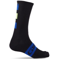 Giro Merino Seasonal Socks 2020 - Black/Blue/Lime