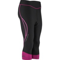 Louis Garneau Pro Women's Tights - Black/Magenta Purple/Glow Pink