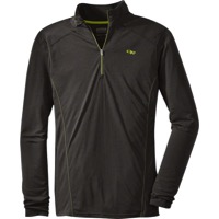 Outdoor Research Sequence Long Sleeve Zip Top - Charcoal